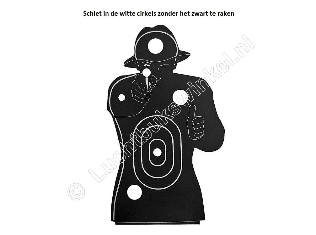 MOBSTER Airgun Paper Target 29.5x42 centimeter package of 25