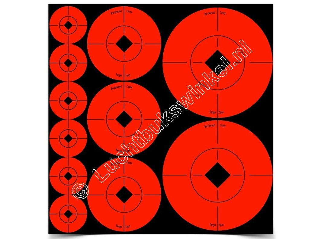 Birchwood Casey TARGET SPOTS Self-Adhesive Targets RED Assortment