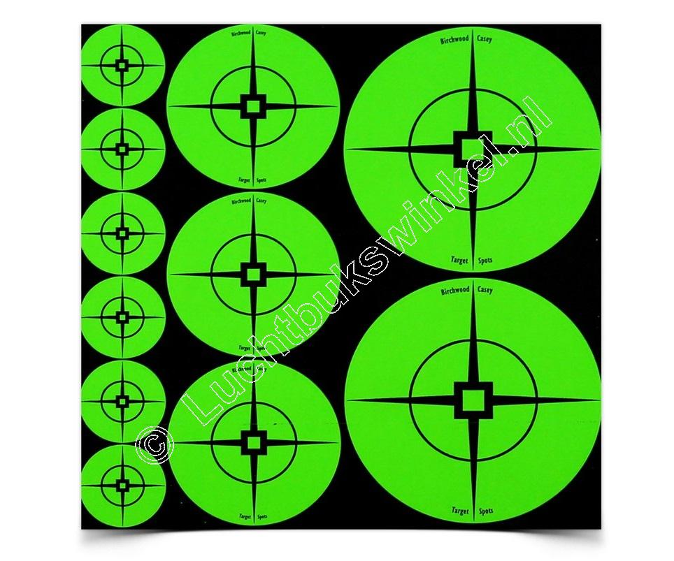 Birchwood Casey TARGET SPOTS Self-Adhesive Targets GREEN Assortment