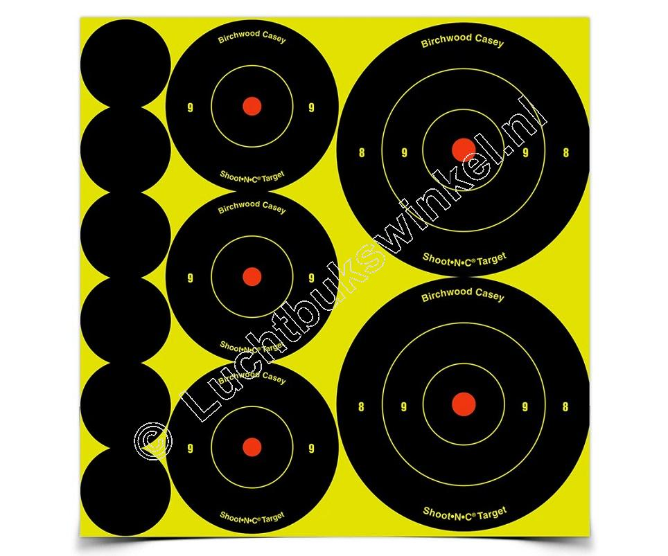 Birchwood Casey SHOOT-N-C Self-Adhesive Targets Assortment Targets