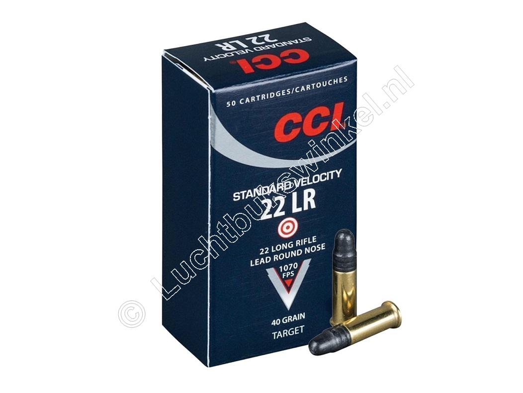 CCI Standard Velocity Munitie .22 Long Rifle 40 grain Lead Round Nose verpakking 500