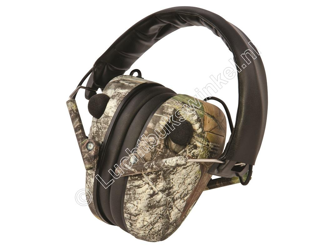 Caldwell E-MAX LOW PROFILE Electronic Stereo Hearing Protection, Mossy Oak BreakUp