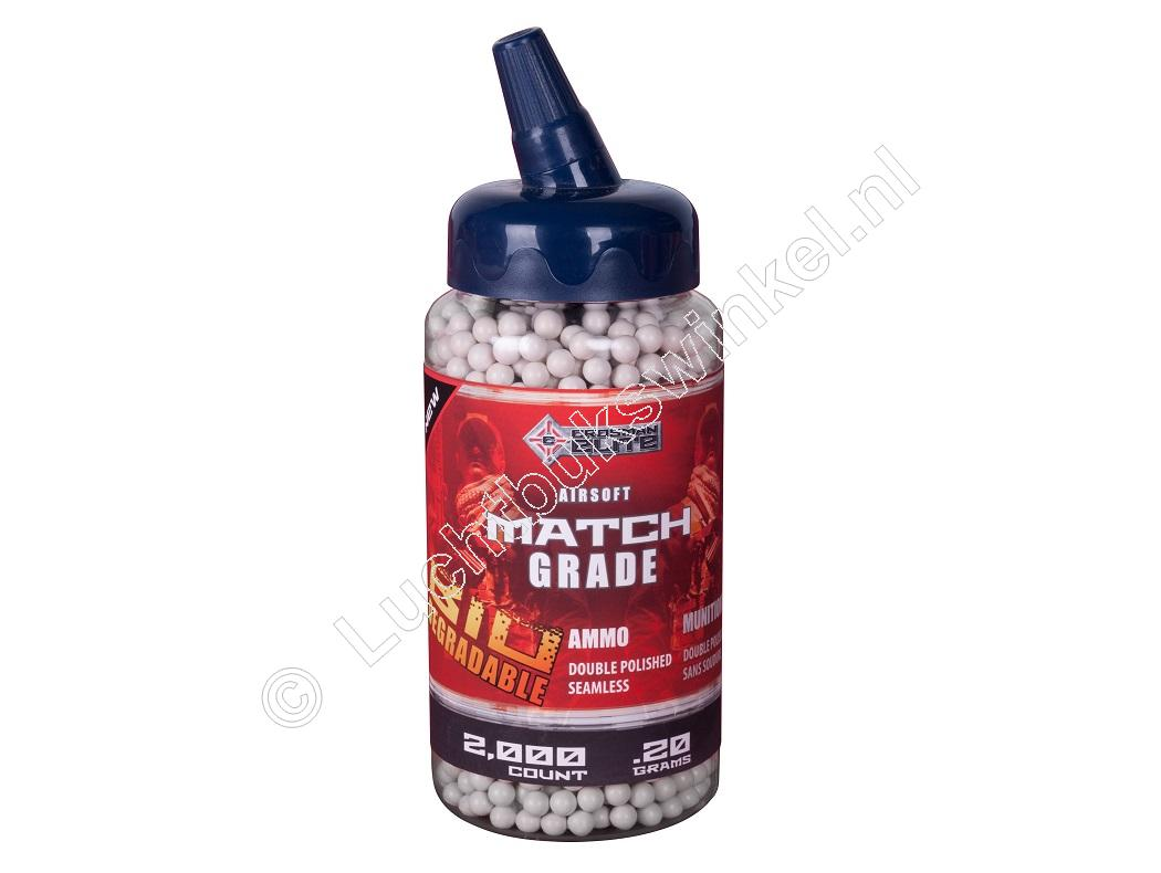 Crosman BIO DEGRADABLE Airsoft BB 6mm 0.20 gram inhoud 2000