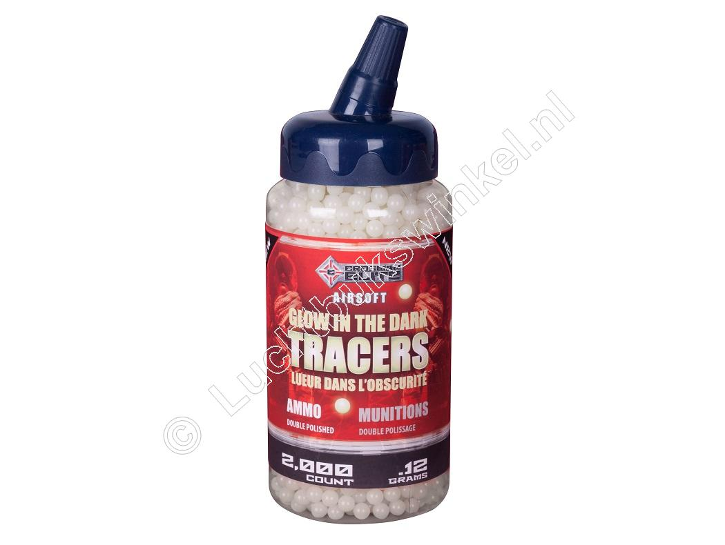 Crosman GLOW in the DARK TRACERS Airsoft BB 6mm 0.12 gram inhoud 2000