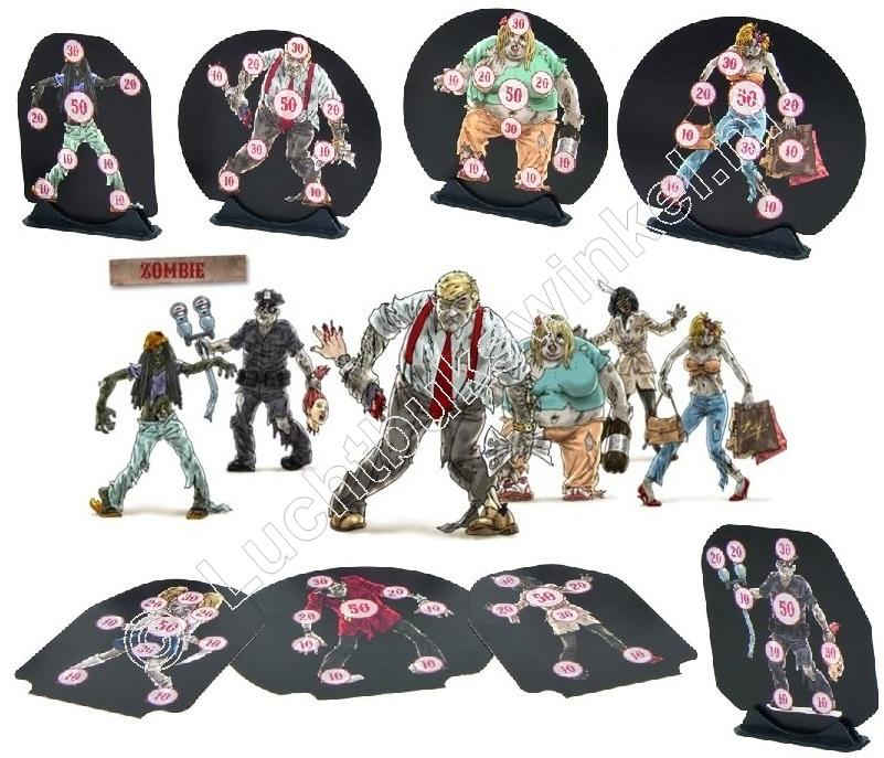 DaGrecker  ZOMBIE Targets package 25 pieces, including 5 Stands