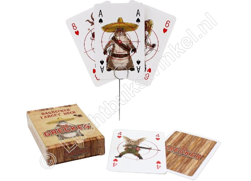DaGrecker PLAYING CARDS with Military, Western and Zombie Design package of 55, including 6 Ground Spikes