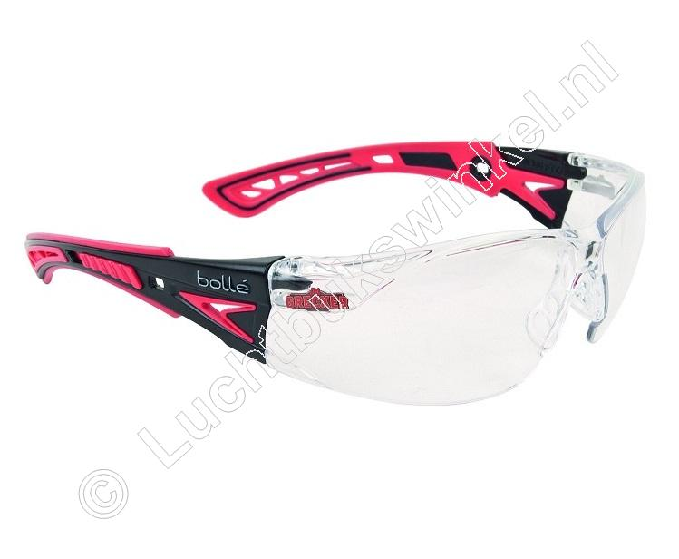 DaGrecker RUSH+ Safety Shooting Glasses color Clear