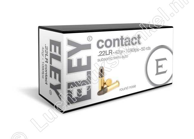 Eley CONTACT Munitie 22 Long Rifle 42 grain Lead Round Nose
