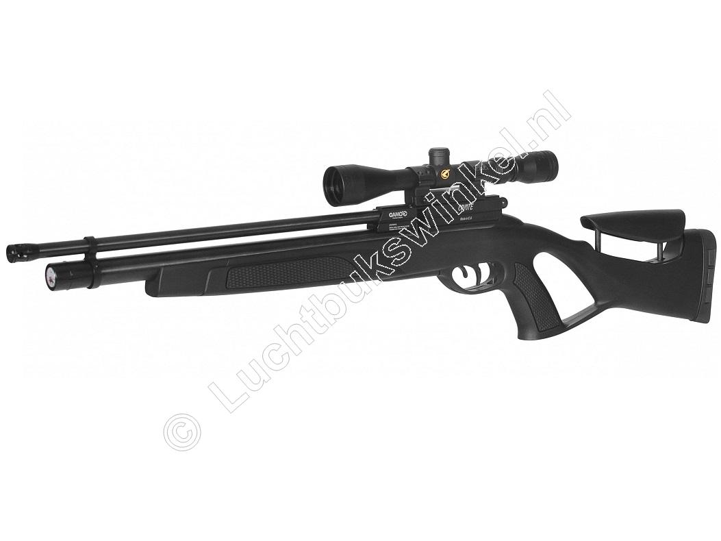 Gamo Coyote Black PCP Luchtgeweer 5.50mm + PCP Pomp