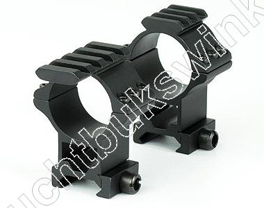 Hawke TACTICAL MATCH MOUNT Weaver Montage voor 30mm Richtkijker HIGH 2 delig
