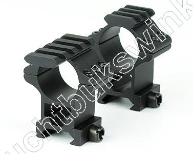 Hawke TACTICAL MATCH MOUNT Weaver Montage voor 1 inch Richtkijker HIGH 2 delig
