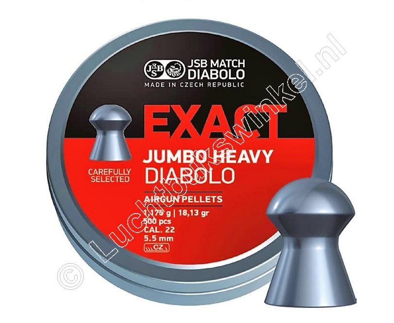 JSB Exact Jumbo Heavy 5.50mm Airgun Pellets tin of 500