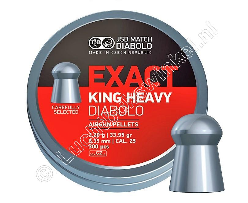 JSB Exact King Heavy 6.35mm Airgun Pellets tin of 300