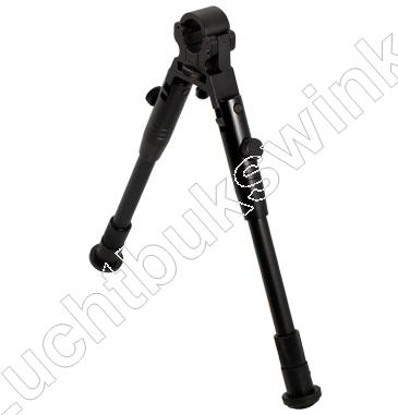 UTG CLAMP-ON SNIPER BIPOD, Rubber Feet, Tweepoot met Loop Montage