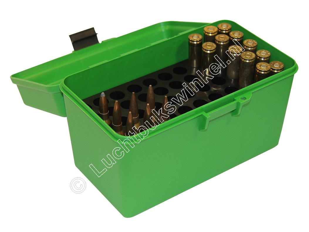 MTM H50R MAG DELUXE Ammo Box GREEN content 50