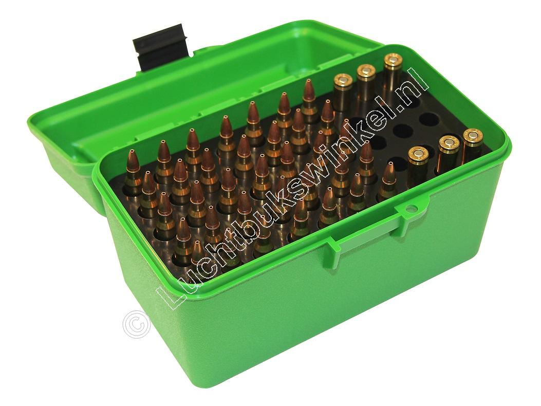 MTM H50RS DELUXE Ammo Box GREEN content 50