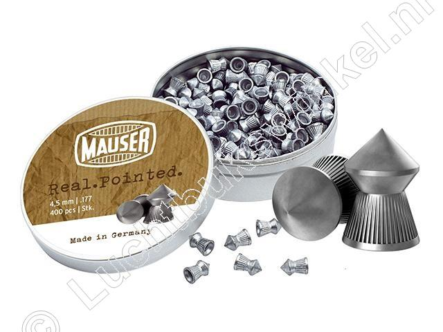 Mauser Real Pointed 4.50mm Airgun Pellets tin of 400