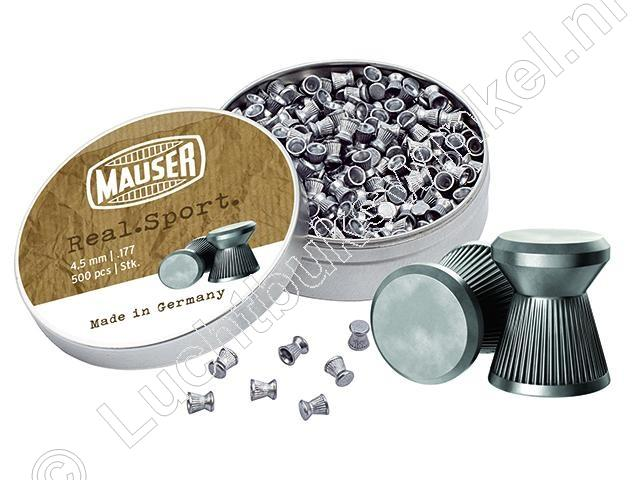 Mauser Real Sport 4.50mm Airgun Pellets tin of 500