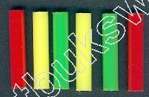 Funfair Target PLASTIC PIPE Assortment Colour Length 4 centimeter container of 100