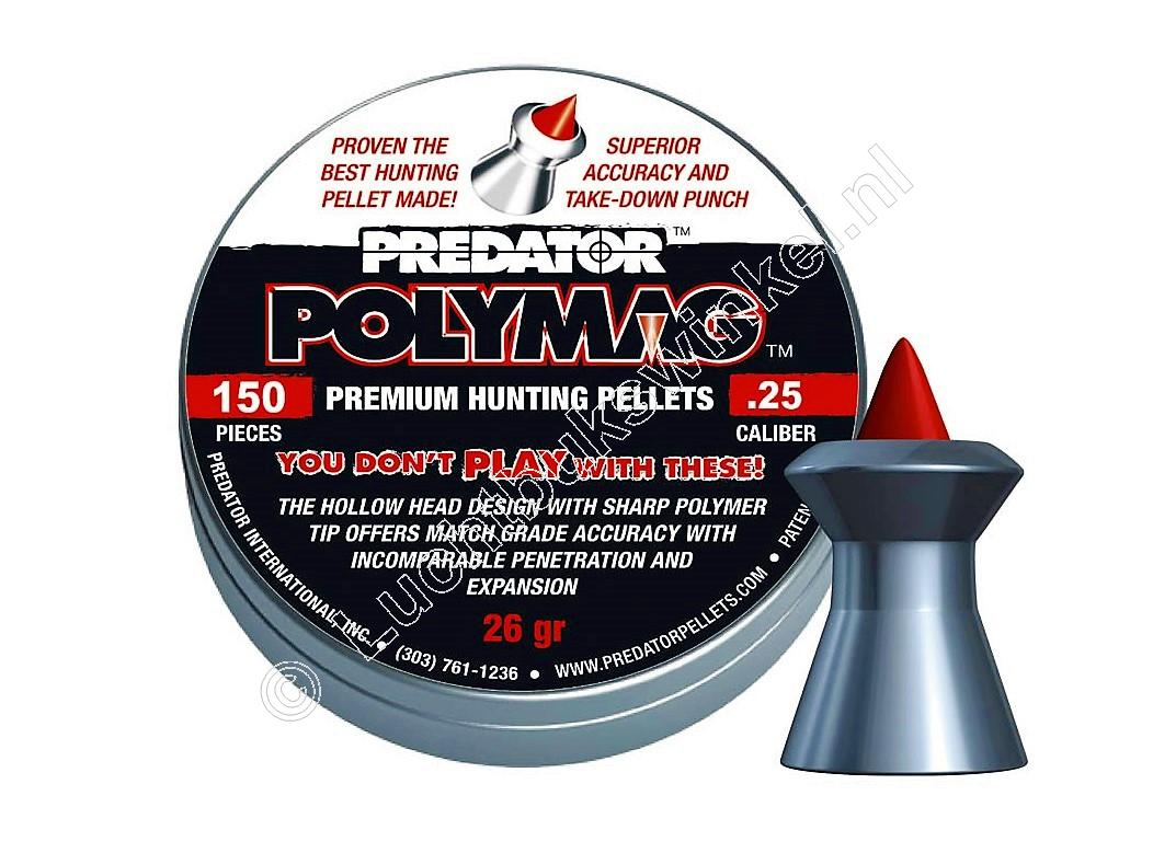 Predator Polymag 6.35mm Airgun Pellets tin of 150