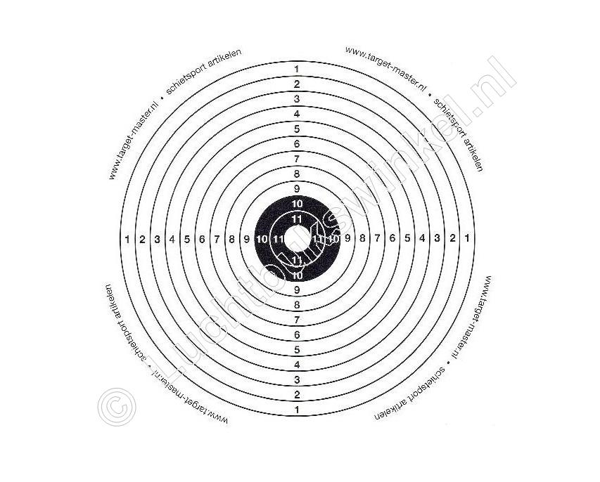 .TM 1 BULLSEYE Airgun Paper Targets 14x14 centimeter content 100 pieces