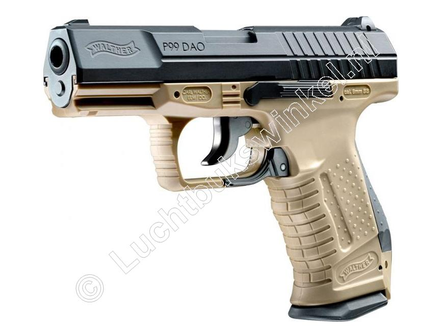 Walther P99 DAO Airsoft Pistol 6mm BB Co2, RAL 8000